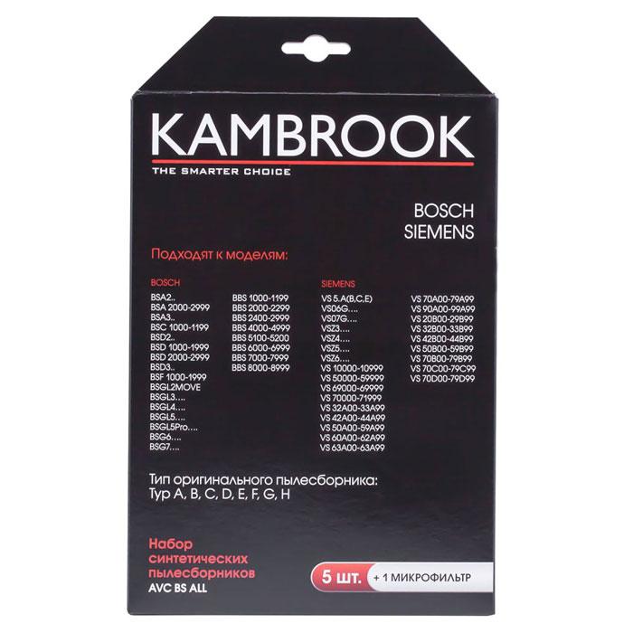 Kambrook AVC BS ALL пылесборник48505Мешки-пылесборники для пылесосов Bosch, Siemens из 4-х слойной микрофибры прекрасно подойдут к вашему пылесосу и помогут навести порядок в доме! В комплекте 5 пылесборников и 1 микрофильтр. Тип оригинального пылесборника: Typ A,B,C,D,E,F,G,H.