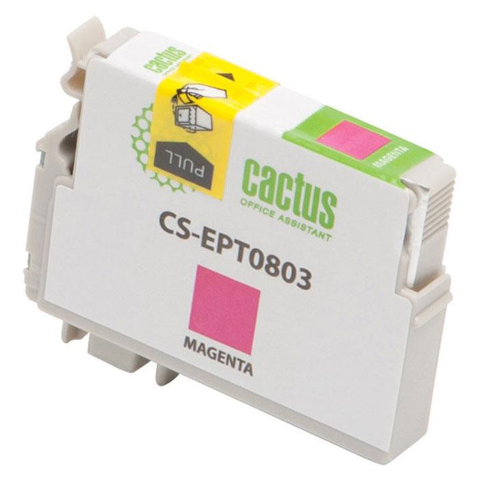Cactus CS-EPT0803, Magenta струйный картридж для Epson Stylus Photo P50