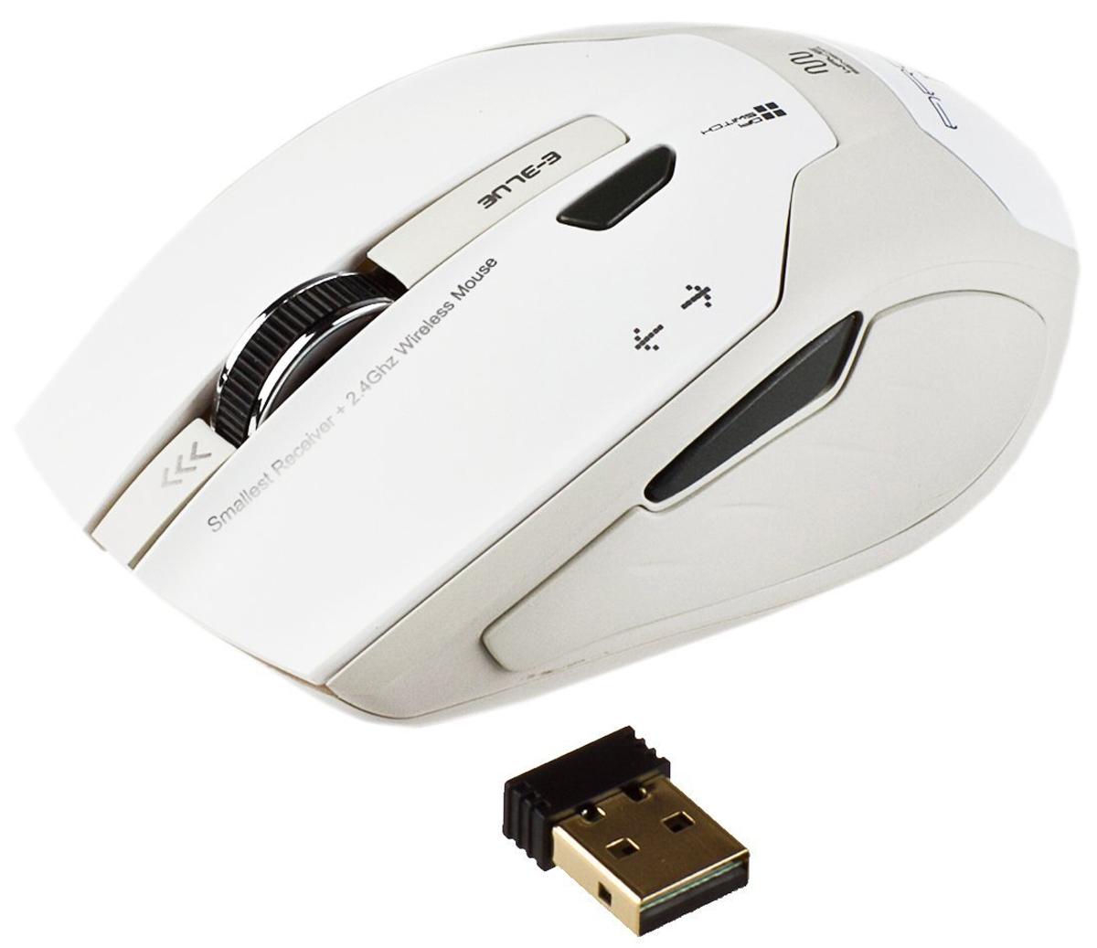 E-Blue EMS100 Arco2, White мышь беспроводная