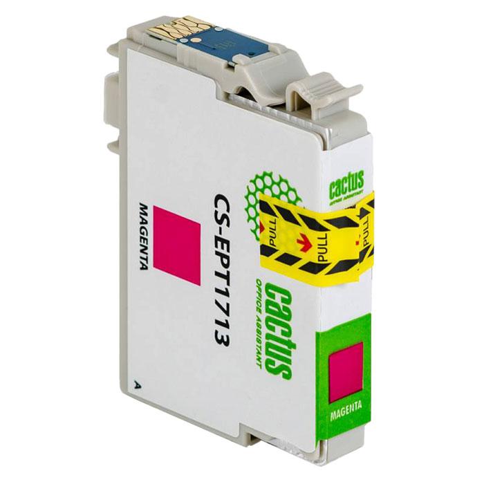 Cactus CS-EPT1713, Magenta струйный картридж для Epson Expression Home XP-33/103/203/207/303/306/403/406CS-EPT1713Картридж Cactus CS-EPT1713 для струйных принтеров Epson. Расходные материалы Cactus для печати максимизируют характеристики принтера. Обеспечивают повышенную четкость изображения и плавность переходов оттенков и полутонов, позволяют отображать мельчайшие детали изображения. Обеспечивают надежное качество печати.