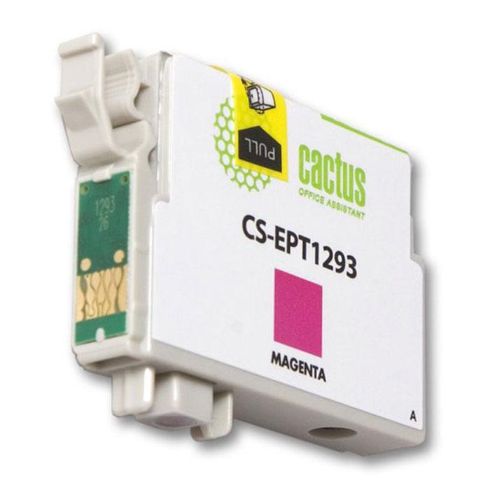 Cactus CS-EPT1293, Magenta струйный картридж для Epson Stylus Office B42/BX305/BX305F/BX320CS-EPT1293Картридж Cactus CS-EPT1293 для струйных принтеров Epson. Расходные материалы Cactus для печати максимизируют характеристики принтера. Обеспечивают повышенную четкость изображения и плавность переходов оттенков и полутонов, позволяют отображать мельчайшие детали изображения. Обеспечивают надежное качество печати.