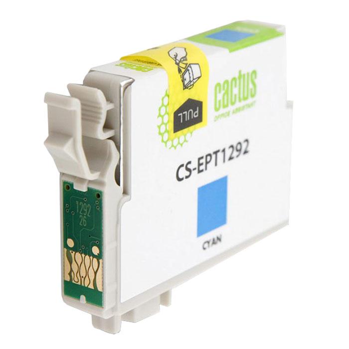 Cactus CS-EPT1292, Cyan струйный картридж для Epson Stylus Office B42/BX305/BX305Fn