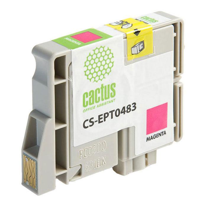 Cactus CS-EPT0483, Magenta струйный картридж для Epson Stylus Photo R200/ R220/ R300/ R320/ R340CS-EPT0483Картридж Cactus CS-EPT0483 для струйных принтеров Epson. Расходные материалы Cactus для печати максимизируют характеристики принтера. Обеспечивают повышенную четкость изображения и плавность переходов оттенков и полутонов, позволяют отображать мельчайшие детали изображения. Обеспечивают надежное качество печати.