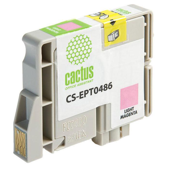 Cactus CS-EPT0486, Light Magenta струйный картридж для Epson Stylus Photo R200/ R220/ R300CS-EPT0486Картридж Cactus CS-EPT0486 для струйных принтеров Epson. Расходные материалы Cactus для печати максимизируют характеристики принтера. Обеспечивают повышенную четкость изображения и плавность переходов оттенков и полутонов, позволяют отображать мельчайшие детали изображения. Обеспечивают надежное качество печати.