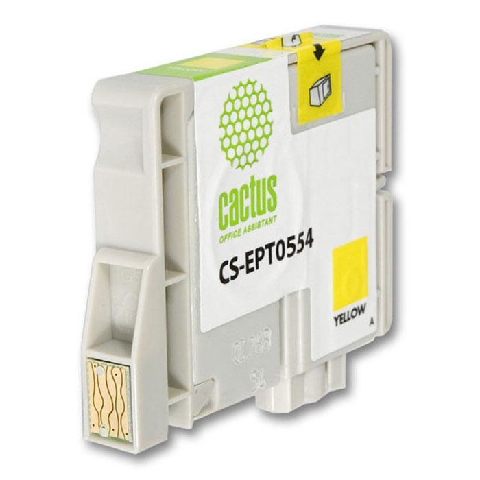 Cactus CS-EPT0554, Yellow струйный картридж для МФУ Epson Stylus Photo RX420/RX425