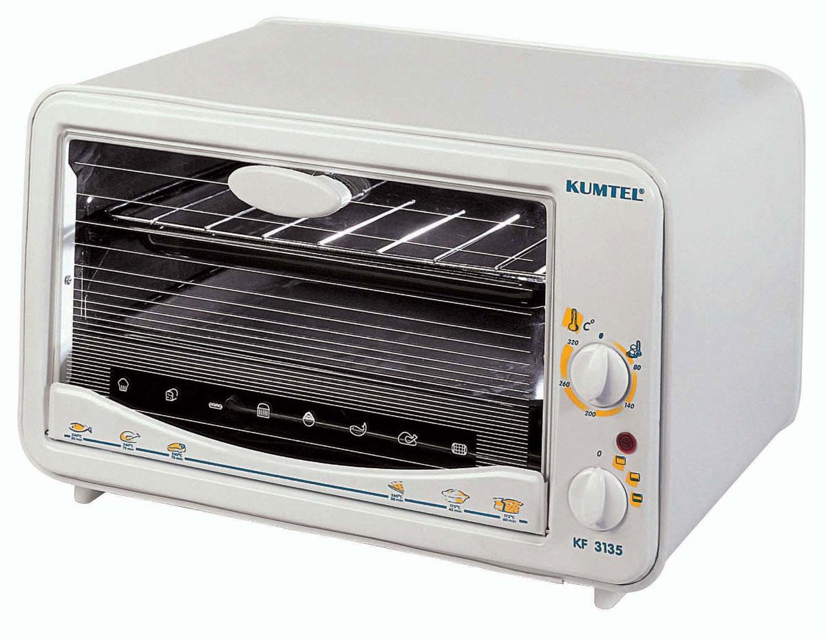 Kumtel KF 3135 D, White жарочный шкаф - Kumtel3135F KD OB RU 03Отличительными чертами удобного жарочного шкафа являются: Наличие 3-х уровней для противня и гриля; Наличие эмалированной внутренней полости; Наличие