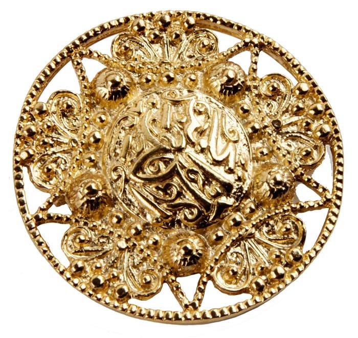 """Винтажная брошь в арабском стиле от Butler & Wilson """"Золото Востока"""" №4. Ювелирный сплав. Butler & Wilson, Великобритания, середина"""