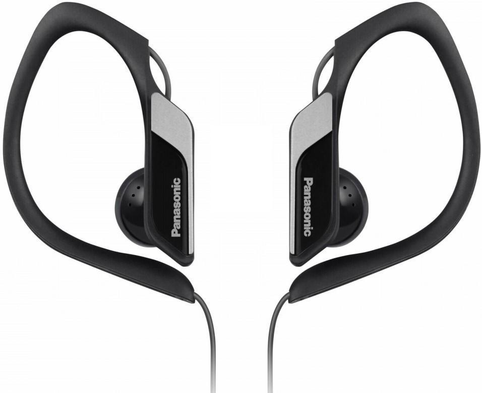 Panasonic RP-HS34E-K, Black наушникиRP-HS34E-KПредназначены для занятий спортом Надежно защищены от влаги и воды: эквивалент IPX2 Выдают четкие и чистые низкие частоты Мощные 14,3-миллиметровые динамики с неодимовым магнитом Прочное и надежное крепление на ухе Минимум звуковых помех благодаря оригинальной конструкции