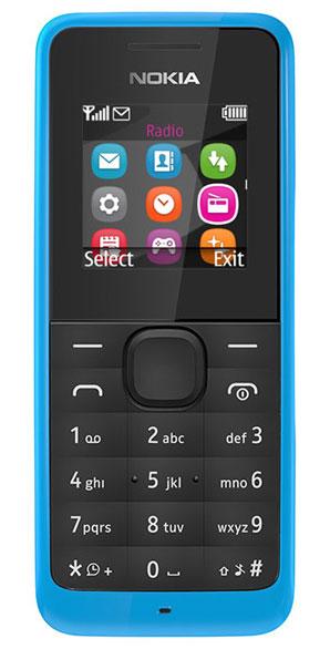 Nokia 105 DS, CyanA00025709Простой и удобный в использовании телефон, отличается оригинальным дизайном и ярким цветом корпуса. В телефоне имеется встроенный фонарик и FM-радио.