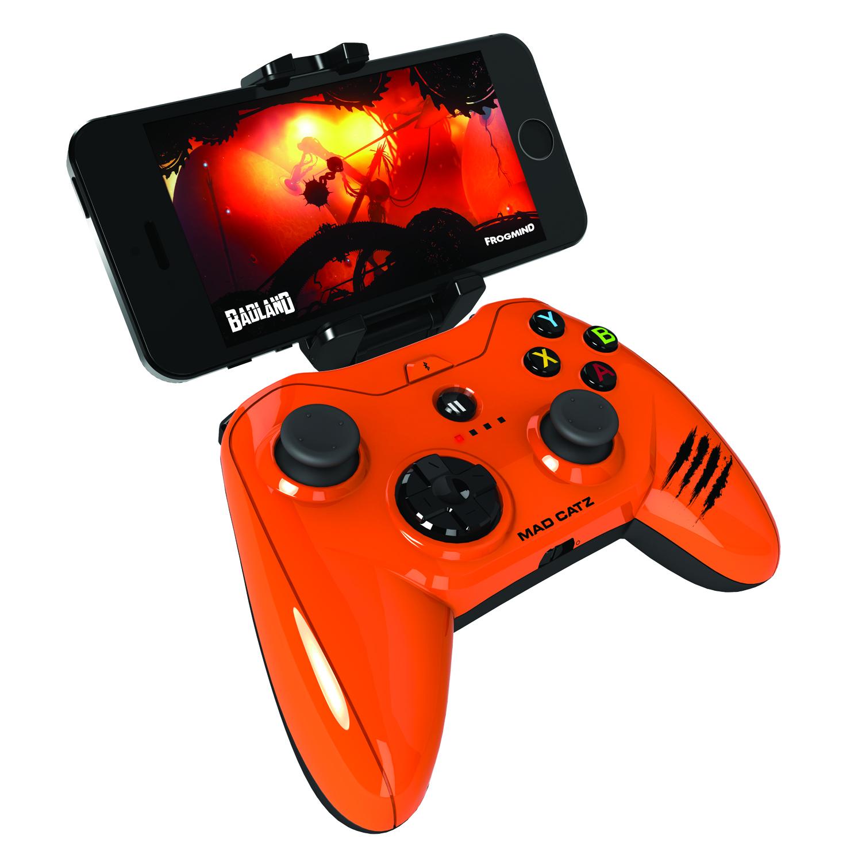 Mad Catz Micro C.T.R.L.i, Gloss Orange беспроводной геймпад для iPhone и iPadMCB312680A10/04/1Mad Catz Micro C.T.R.L.i – это мобильный геймпад с традиционными элементами управления для устройств, работающих на iOS 7 и выше. Благодаря съемному креплению для смартфона Micro C.T.R.L.i превращает ваше устройство iOS в портативную игровую консоль, где бы вы ни находились — дома или в дороге. А подключив свой iPhone к телевизору с помощью адаптера Lightning Digital AV от Apple, вы сможете играть в настоящие аркадные игры в собственной гостиной. Благодаря скорости реагирования, которая гораздо выше, чем у стандартных геймпадов для игровых консолей, Micro C.T.R.L.i по праву можно считать лучшим геймпадом для устройств Apple. Идеальная совместимость с устройствами Apple: Мобильный геймпад Micro C.T.R.L.i оснащен модулем Bluetooth с микросхемой, одобренной компанией Apple, что гарантирует полную совместимость с устройствами Apple. Геймпад Micro C.T.R.L.i официально сертифицирован компанией Apple, соответствует нормативным характеристикам и даже...