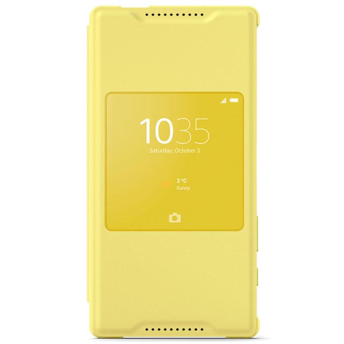 Sony Style Cover Window SCR44 чехол для Xperia Z5 Compact, YellowSCR44 yellowЧехол с умным окном Sony Style Cover Window SCR44 — это инновационный чехол для Xperia Z5 Compact. Даже когда он закрыт, вы можете работать с любым из пяти любимых приложений с помощью умного окна. Стильному изящному Xperia Z5 Compact нужен чехол, который бы подчеркивал все достоинства его дизайна. Sony Style Cover Window SCR44 создан именно для этого. Он доступен в тех же цветах, что и Xperia Z5 Compact, чтобы вы легко могли создать гармоничный образ. А еще чехол защищает смартфон, чтобы он долго выглядел как новый. Быстрый доступ к 5 избранным виджетам Защита от проникновения воды (IPX5/8) Стойкость к царапинам (3H) Окно: 54 x 54 мм Магнитная вставка для перевода экрана в режим сна и обратно