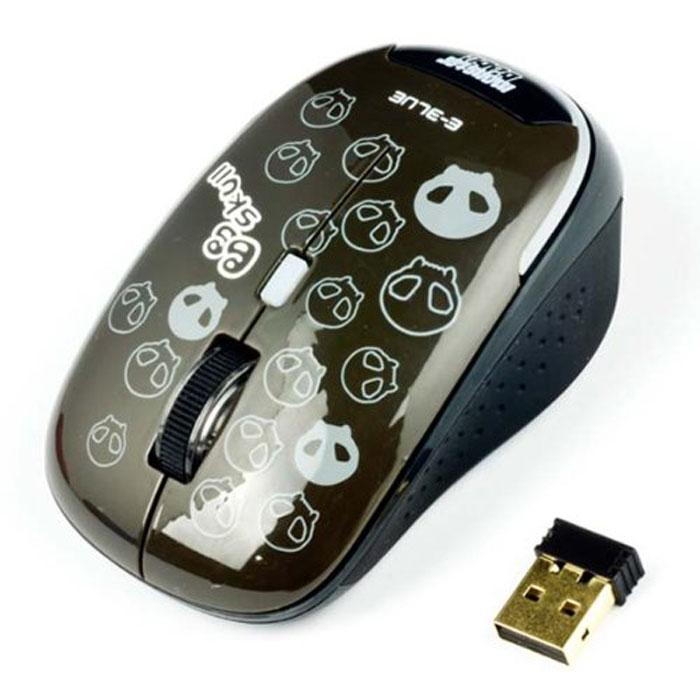 E-Blue EMS103 Monster Babe, Black мышь беспроводнаяEMS103BKБеспроводная компьютерная мышь E-Blue EMS103 Monster Babe с ярким, необычным дизайном безусловно станет вашим незаменимым помощником. Компактные размеры позволяют использовать мышь при работе с ноутбуком. Небольшой приемник можно оставлять в USB-разъеме компьютера даже при его транспортировке. Клавиша переключения разрешения сенсора служит для регулировки необходимой точности управления курсором.