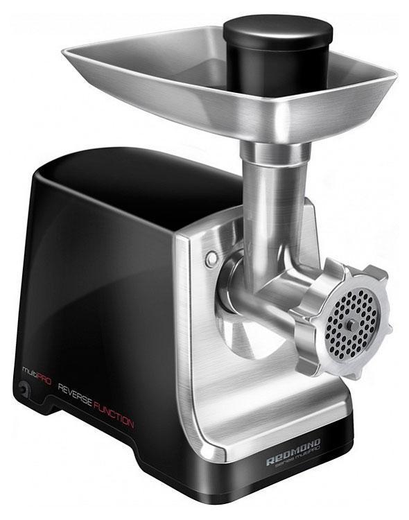 Redmond RMG-1208 электрическая мясорубкаRMG-1208Максимальная мощность: 1500 Вт Номинальная мощность: 800 Вт Производительность 1,5 кг/мин Функция реверса Диски с разной перфорацией для различных видов фарша Защита от перегрузки Насадка для приготовления колбасок Насадка для приготовления кеббе Механический фиксатор блока мясорубки