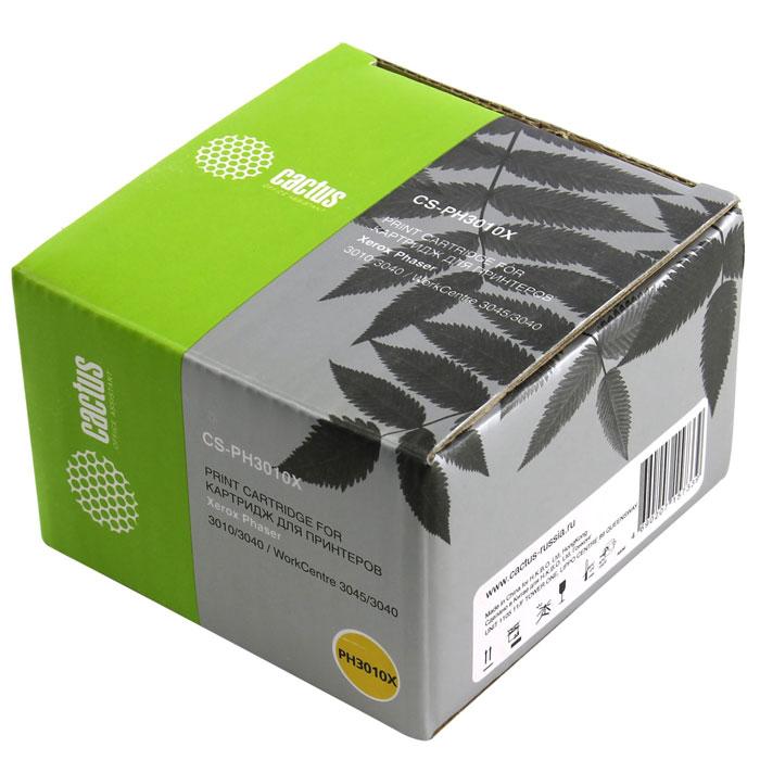 Cactus CS-PH3010X, Black тонер-картридж для Xerox Phaser 3010 WorkCentre 3045(106R02183)CS-PH3010XКартридж Cactus CS-PH3010X для лазерных принтеров Xerox. Расходные материалы Cactus для лазерной печати максимизируют характеристики принтера. Обеспечивают повышенную чёткость чёрного текста и плавность переходов оттенков серого цвета и полутонов, позволяют отображать мельчайшие детали изображения. Обеспечивают надежное качество печати.