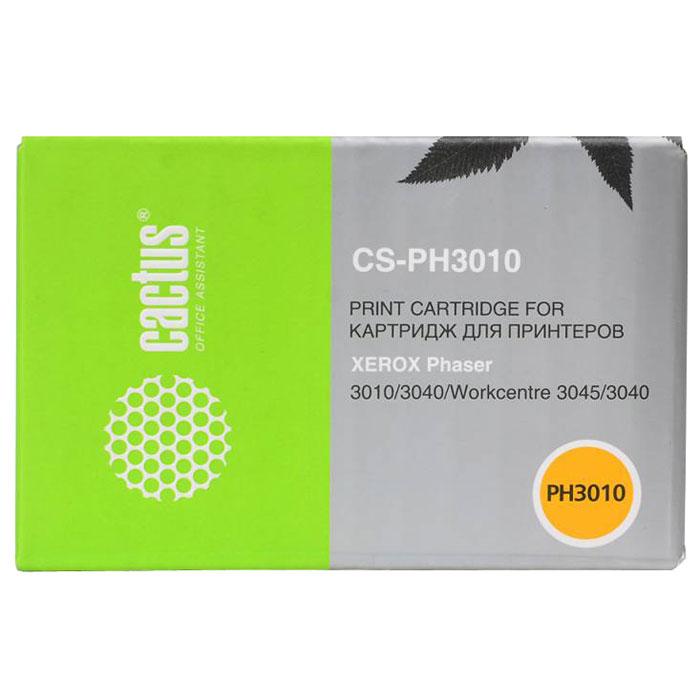 Cactus CS-PH3010, Black тонер-картридж для Xerox Phaser 3010 WorkCentre 3045 (106R02181)CS-PH3010Картридж Cactus CS-PH3010 для лазерных принтеров Xerox. Расходные материалы Cactus для лазерной печати максимизируют характеристики принтера. Обеспечивают повышенную чёткость чёрного текста и плавность переходов оттенков серого цвета и полутонов, позволяют отображать мельчайшие детали изображения. Обеспечивают надежное качество печати.
