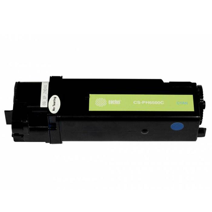 Cactus CS-PH6500C, Cyan тонер-картридж для Xerox 6500/6505 (106R01601)CS-PH6500CКартридж Cactus CS-PH6500C для лазерных принтеров Xerox. Расходные материалы Cactus для печати максимизируют характеристики принтера. Обеспечивают повышенную четкость изображения и плавность переходов оттенков и полутонов, позволяют отображать мельчайшие детали изображения. Обеспечивают надежное качество печати.