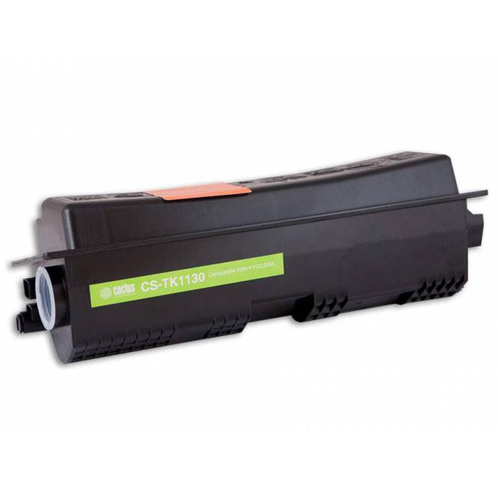 Cactus CS-TK1130, Black тонер-картридж для Kyocera FS-1030MFP/FS-1130MFPCS-TK1130Картридж Cactus CS-TK1130 для лазерных принтеров Kyocera. Расходные материалы Cactus для лазерной печати максимизируют характеристики принтера. Обеспечивают повышенную чёткость чёрного текста и плавность переходов оттенков серого цвета и полутонов, позволяют отображать мельчайшие детали изображения. Обеспечивают надежное качество печати.