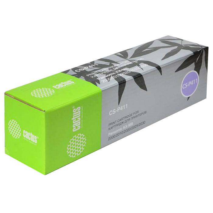 Cactus CS-P411, Black тонер-картридж для Panasonic KXMB1900/MB2000/MB2010/MB2020/MB2025/MB2030/MB2051/MB2061CS-P411Картридж Cactus CS-P411 для лазерных принтеров Panasonic. Расходные материалы Cactus для лазерной печати максимизируют характеристики принтера. Обеспечивают повышенную чёткость чёрного текста и плавность переходов оттенков серого цвета и полутонов, позволяют отображать мельчайшие детали изображения. Обеспечивают надежное качество печати.
