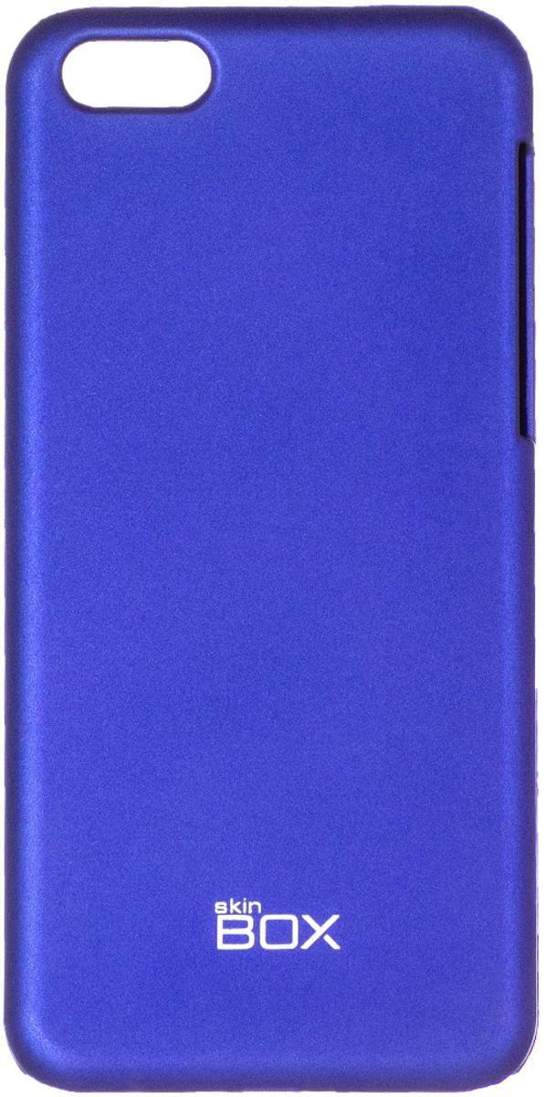 Skinbox 4People чехол для Apple iPhone 5c, BlueT-S-AiPhone5C-002Чехол - накладка Skinbox 4People для Apple iPhone 5c бережно и надежно защитит ваш смартфон от пыли, грязи, царапин и других повреждений. Чехол оставляет свободным доступ ко всем разъемам и кнопкам устройства. В комплект также входит защитная пленка на экран.