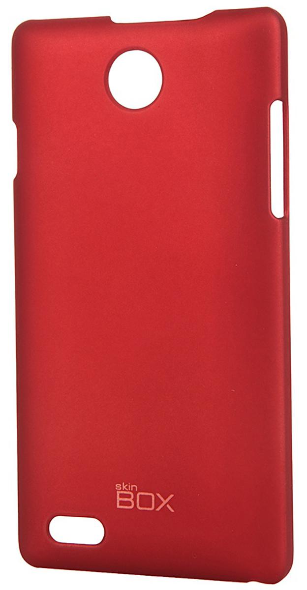 Skinbox 4People чехол для ZTE v815W, RedT-S-v815W-002Чехол - накладка Skinbox 4People для ZTE v815W бережно и надежно защитит ваш смартфон от пыли, грязи, царапин и других повреждений. Чехол оставляет свободным доступ ко всем разъемам и кнопкам устройства. В комплект также входит защитная пленка на экран.