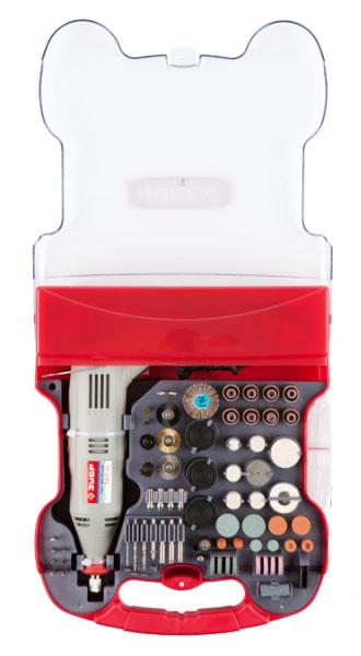 Гравер электрический ЗУБР. ЗГ-130ЭК H172ЗГ-130ЭК H172Гравер ЗУБР – это надежный инструмент с мощным двигателем, способный выполнить широкий круг задач (резка, полировка, гравирование, шлифование). Его неоспоримыми преимуществами являются высокая производительность, большой рабочий ресурс и универсальность применения при обработке различных материалов. Применяется при выполнении высокоточных чистовых работ по резке, шлифовке и полировке металла, древесины, пластика, керамики и других материалов. Особенности: Электронная регулировка оборотов позволяет подобрать оптимальный режим обработки для каждого вида работы Эргономичный дизайн, благодаря которому инструмент удобно лежит в руке Блокировка вала для быстрой замены инструмента Быстрая замена щеток коллектора ротора применяется при выполнении высокоточных чистовых работ по резке, шлифовке и полировке металла, древесины, пластика, керамики и других материалов Удобный мобильный чемодан для хранения и транспортировки Большой выбор рабочих форм и...