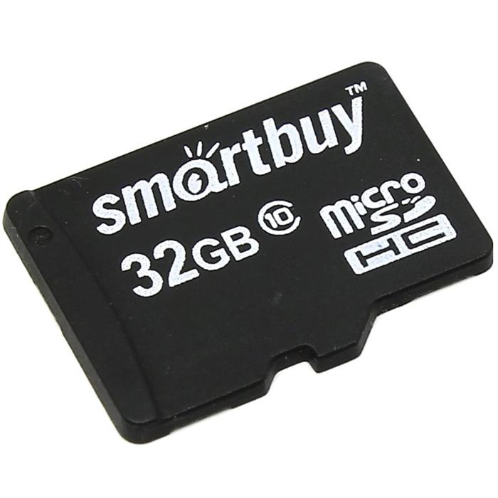 SmartBuy microSDHC Сlass 10 32GB карта памяти (без адаптера)SB32GBSDCL10-00Карта памяти SmartBuy microSDHC Сlass 10 32GB может использоваться в телефонах, коммуникаторах, видеокамерах, цифровых фотоаппаратах, персональных компьютерах и других электронных устройствах с поддержкой SDHC.