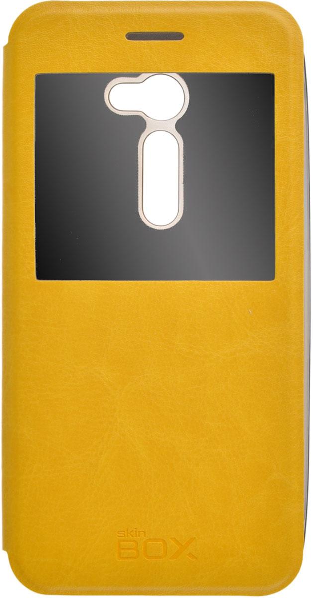 Skinbox Lux AW чехол для Asus ZenFone 2 (ZE500C), YellowT-S-AZE550CL-004Чехол Skinbox Lux AW для Asus ZenFone 2 выполнен из высококачественного поликарбоната и экокожи. Он обеспечивает надежную защиту корпуса и экрана смартфона и надолго сохраняет его привлекательный внешний вид. Чехол также обеспечивает свободный доступ ко всем разъемам и клавишам устройства.