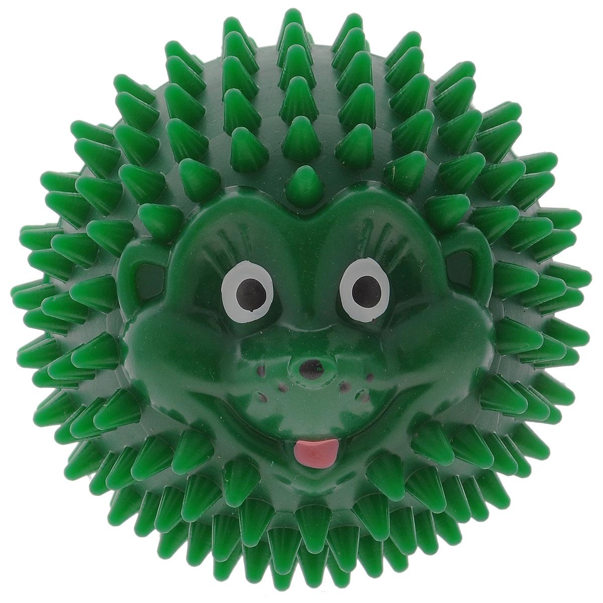 Массажер Дельтатерм Шарик-Ежик, цвет: зеленый, диаметр 85 мм00-00000228_зеленыйС помощью массажного мяча Шарик-Ежик можно самостоятельно проводить мягкий массаж ладоней, стоп и всего тела. Такой массаж способствует повышению кожно-мышечного тонуса, уменьшению венозного застоя и ускорению капиллярного кровотока, улучшению функционирования периферической и центральной нервных систем. Идеально подходит для проведения массажа у маленьких детей. Развивает мышление, координацию движений и совершенствует моторику нежных пальчиков малыша и является интересной веселой игрушкой.