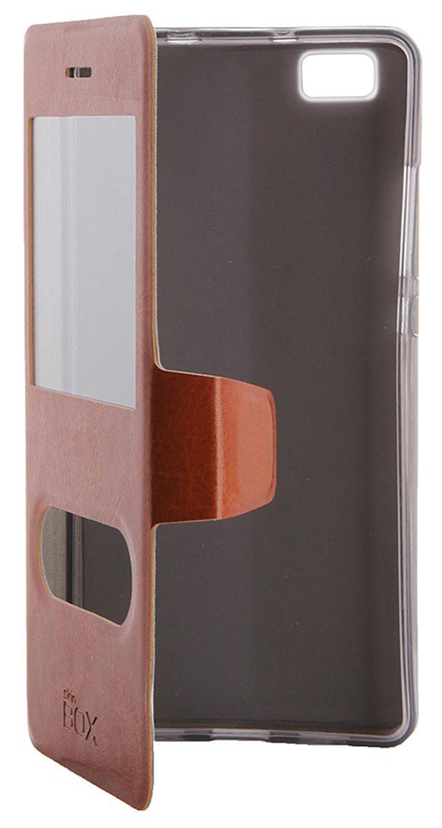 Skinbox Lux AW чехол для Huawei P8 Lite, BrownT-S-HP8L-004Чехол Skinbox Lux AW для Huawei P8 Lite выполнен из высококачественного поликарбоната и экокожи. Он обеспечивает надежную защиту корпуса и экрана смартфона и надолго сохраняет его привлекательный внешний вид. Чехол также обеспечивает свободный доступ ко всем разъемам и клавишам устройства.