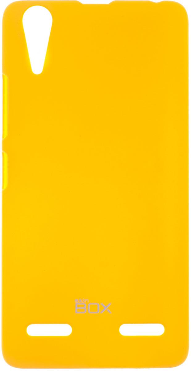 Skinbox 4People чехол для Lenovo A6000, YellowP-S-LA6000-002Чехол-накладка Skinbox 4People для Lenovo A6000 бережно и надежно защитит ваш смартфон от пыли, грязи, царапин и других повреждений. Чехол оставляет свободным доступ ко всем разъемам и кнопкам устройства. В комплект также входит защитная пленка на экран.