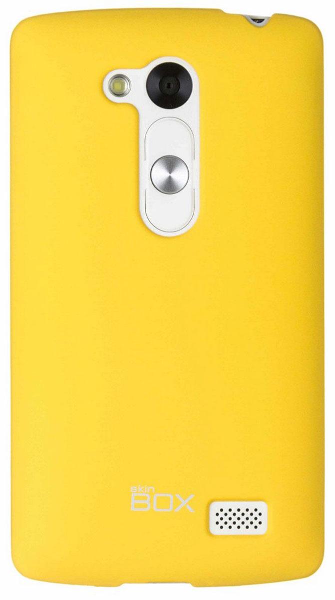Skinbox 4People чехол для LG L Fino, YellowT-S-LF-002Чехол-накладка Skinbox 4People для LG L Fino бережно и надежно защитит ваш смартфон от пыли, грязи, царапин и других повреждений. Чехол оставляет свободным доступ ко всем разъемам и кнопкам устройства. В комплект также входит защитная пленка на экран.