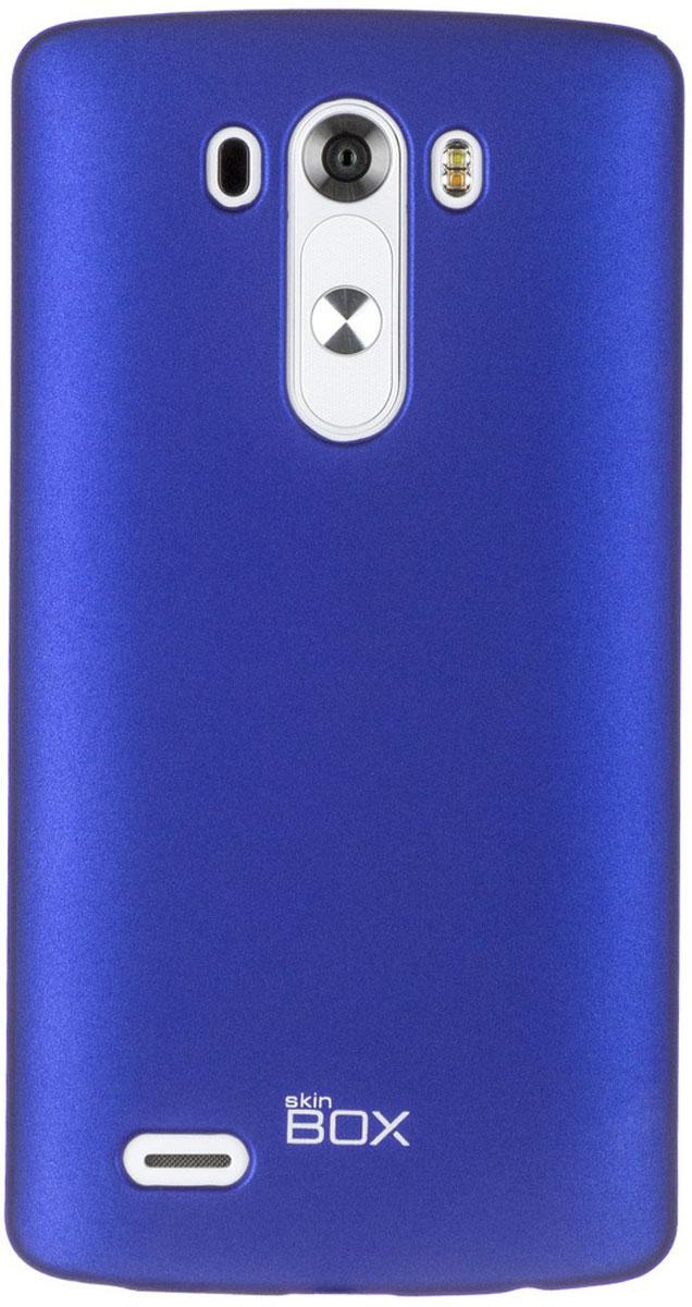 Skinbox 4People чехол для LG G3, BlueT-S-LG3-002Чехол - накладка Skinbox 4People для LG G3 бережно и надежно защитит ваш смартфон от пыли, грязи, царапин и других повреждений. Чехол оставляет свободным доступ ко всем разъемам и кнопкам устройства. В комплект также входит защитная пленка на экран.