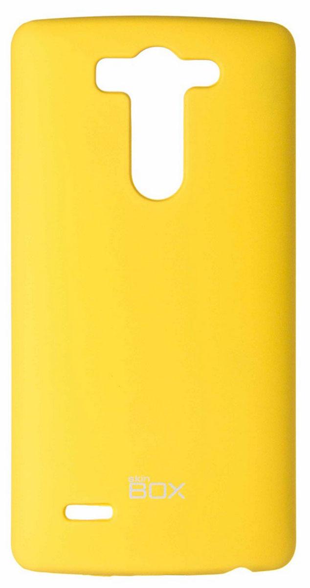 Skinbox 4People чехол для LG G3S, YellowT-S-LG3S-002Чехол - накладка Skinbox 4People для LG G3S бережно и надежно защитит ваш смартфон от пыли, грязи, царапин и других повреждений. Чехол оставляет свободным доступ ко всем разъемам и кнопкам устройства. В комплект также входит защитная пленка на экран.