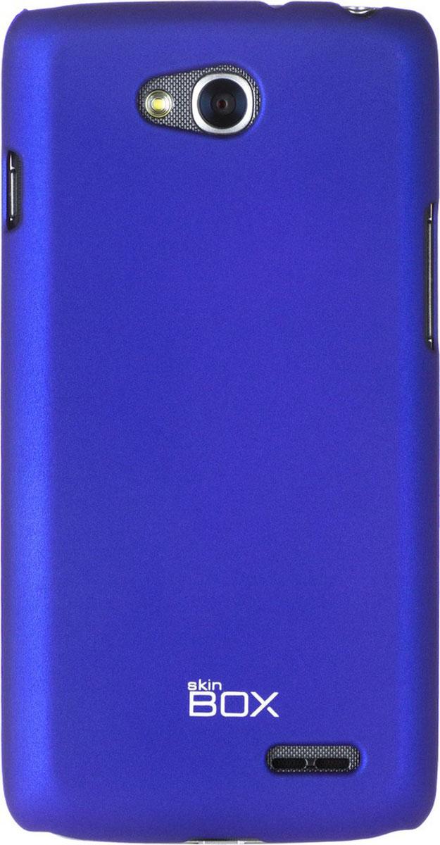Skinbox 4People чехол для LG L90 Dual, BlueT-S-LL90-002Чехол - накладка Skinbox 4People для LG L90 Dual бережно и надежно защитит ваш смартфон от пыли, грязи, царапин и других повреждений. Чехол оставляет свободным доступ ко всем разъемам и кнопкам устройства. В комплект также входит защитная пленка на экран.