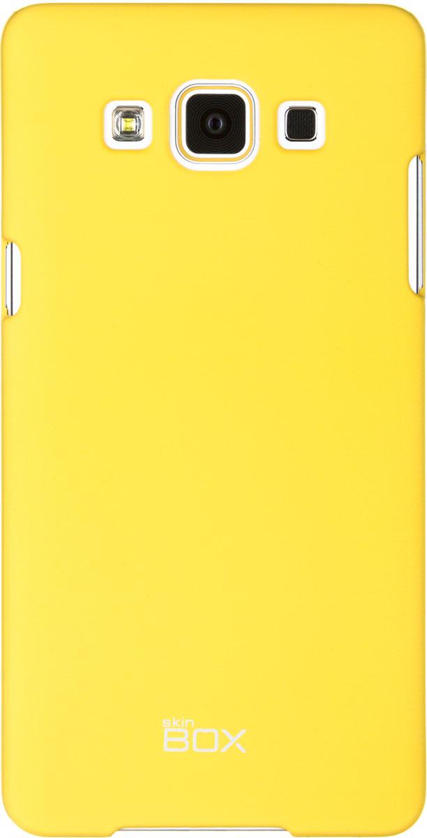 Skinbox 4People чехол для Samsung A500 Galaxy A5, YellowT-S-SGA500-002Чехол - накладка Skinbox 4People для Samsung Galaxy A5 бережно и надежно защитит ваш смартфон от пыли, грязи, царапин и других повреждений. Чехол оставляет свободным доступ ко всем разъемам и кнопкам устройства. В комплект также входит защитная пленка на экран.