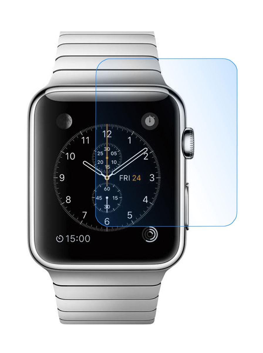 Skinbox защитное стекло для Apple Watch 38mm, глянцевоеSP-151Защитное стекло Skinbox для Apple Watch 38mm предназначено для защиты поверхности экрана от царапин, потертостей, отпечатков пальцев и прочих следов механического воздействия. Оно имеет окаймляющую загнутую мембрану последнего поколения, а также олеофобное покрытие. Изделие изготовлено из закаленного стекла высшей категории, с высокой чувствительностью и сцеплением с экраном.
