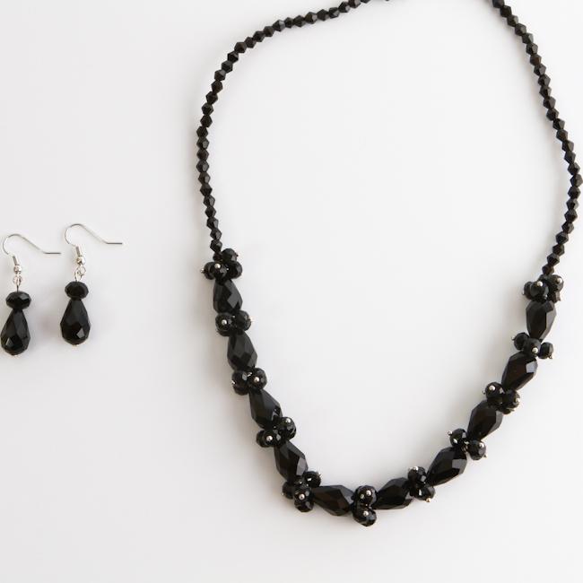 Комплект украшений Fashion House, цвет: серебряный, черный. FH28045 ( FH28045 )