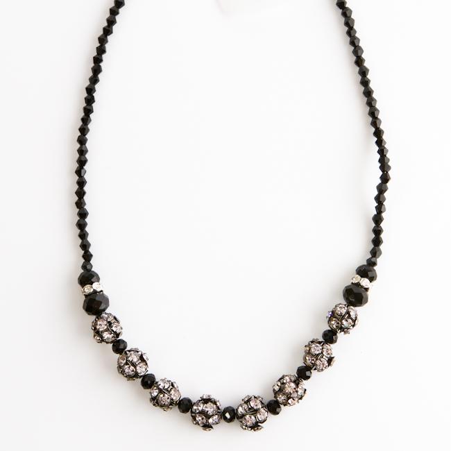 Колье Fashion House, цвет: серебряный, черный. FH28050 ( FH28050 )