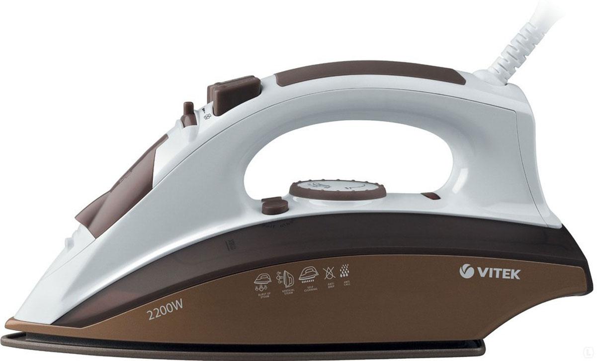Vitek VT-1209, Brown утюг1209-VT-02Утюг Vitek VT-1209 Brown выделяется среди других своим минимальным весом и удобной конструкцией. Безопасность при использовании обеспечивается индикатором включения и функцией автоматического отключения. Утюг оснащен желобком для пуговиц, а благодаря узкой подошве он легко разглаживает складки при любом покрое одежды. Прочная подошва Ceramic Ultra Care отличается деликатным отношением к ткани. Несколько режимов пара позволяют подобрать оптимальный режим отпаривания для всех материалов.
