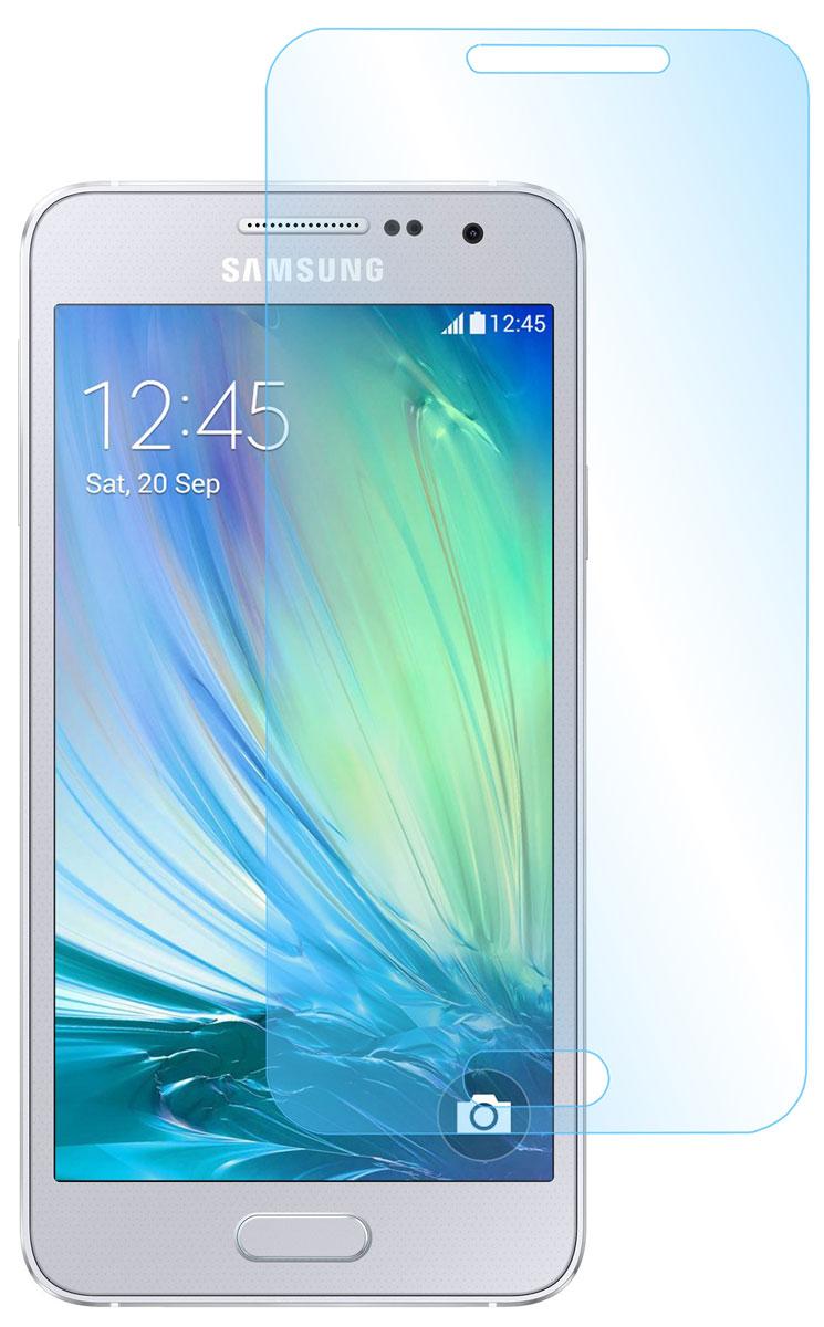 Skinbox защитное стекло для Samsung Galaxy A3, глянцевоеSP-083Защитное стекло Skinbox для Samsung Galaxy A3 предназначено для защиты поверхности экрана от царапин, потертостей, отпечатков пальцев и прочих следов механического воздействия. Оно имеет окаймляющую загнутую мембрану последнего поколения, а также олеофобное покрытие. Изделие изготовлено из закаленного стекла высшей категории, с высокой чувствительностью и сцеплением с экраном.