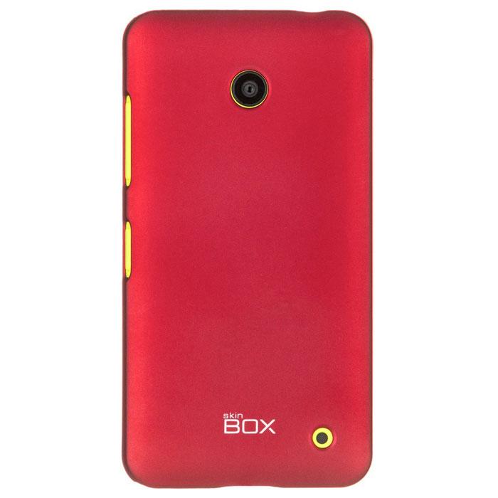 Skinbox 4People чехол для Nokia Lumia 630/635, RedT-S-NL635-002Накладка Skinbox 4People для Nokia Lumia 630/635 выполнена из высококачественного поликарбоната. Она бережно и надежно защитит ваш смартфон от пыли, грязи, царапин и других повреждений. Чехол оставляет свободным доступ ко всем разъемам и кнопкам устройства.