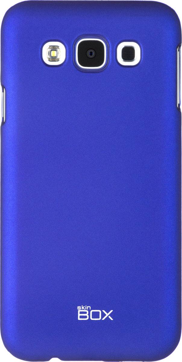 Skinbox 4People чехол для Samsung Galaxy E5, BlueT-S-SGE5-002Чехол - накладка Skinbox 4People для Samsung Galaxy E5 бережно и надежно защитит ваш смартфон от пыли, грязи, царапин и других повреждений. Чехол оставляет свободным доступ ко всем разъемам и кнопкам устройства. В комплект также входит защитная пленка на экран.