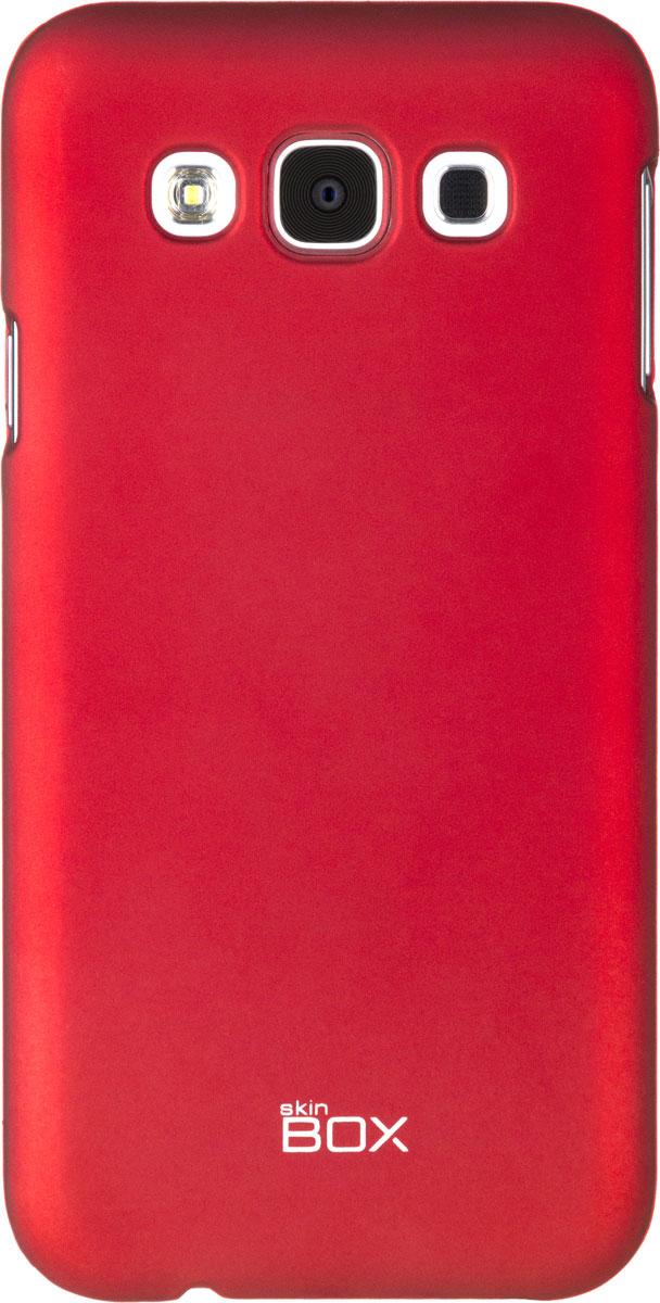 Skinbox 4People чехол для Samsung Galaxy E5, RedT-S-SGE5-002Чехол - накладка Skinbox 4People для Samsung Galaxy E5 бережно и надежно защитит ваш смартфон от пыли, грязи, царапин и других повреждений. Чехол оставляет свободным доступ ко всем разъемам и кнопкам устройства. В комплект также входит защитная пленка на экран.
