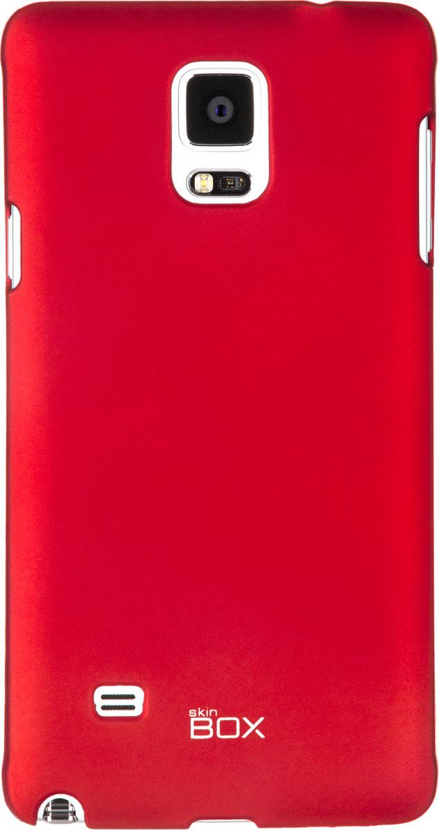 Skinbox 4People чехол для Samsung Galaxy Note 4, RedT-S-SGN4-002Чехол - накладка Skinbox 4People для Samsung Galaxy Note 4 бережно и надежно защитит ваш смартфон от пыли, грязи, царапин и других повреждений. Чехол оставляет свободным доступ ко всем разъемам и кнопкам устройства. В комплект также входит защитная пленка на экран.