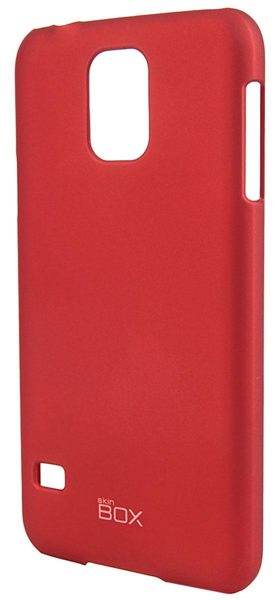 Skinbox 4People чехол для Samsung Galaxy S5, RedT-S-SGS5-002Чехол - накладка Skinbox 4People для Samsung Galaxy S5 бережно и надежно защитит ваш смартфон от пыли, грязи, царапин и других повреждений. Чехол оставляет свободным доступ ко всем разъемам и кнопкам устройства. В комплект также входит защитная пленка на экран.