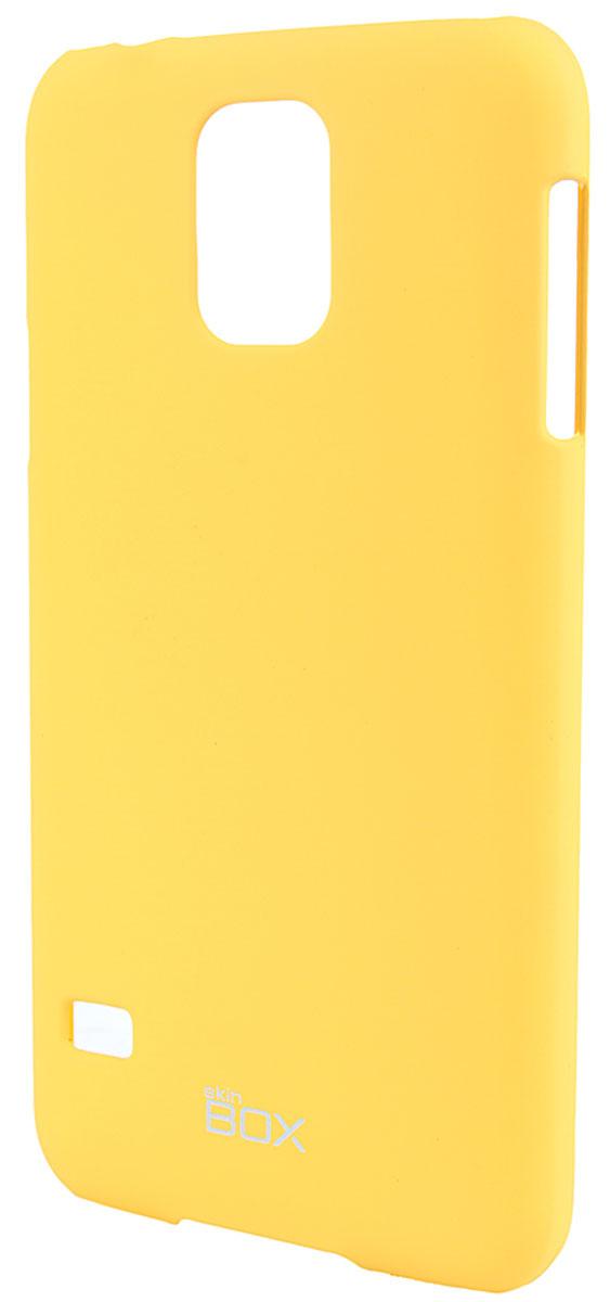 Skinbox 4People чехол для Samsung Galaxy S5, YellowT-S-SGS5-002Чехол - накладка Skinbox 4People для Samsung Galaxy S5 бережно и надежно защитит ваш смартфон от пыли, грязи, царапин и других повреждений. Чехол оставляет свободным доступ ко всем разъемам и кнопкам устройства. В комплект также входит защитная пленка на экран.