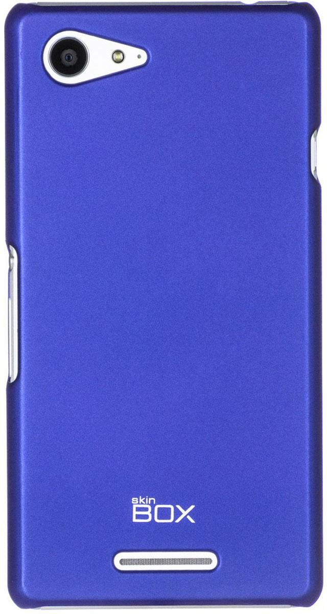 Skinbox 4People чехол для Sony Xperia E3 Dual, BlueT-S-SXE3-002Чехол - накладка Skinbox 4People для Sony Xperia E3 Dual бережно и надежно защитит ваш смартфон от пыли, грязи, царапин и других повреждений. Чехол оставляет свободным доступ ко всем разъемам и кнопкам устройства. В комплект также входит защитная пленка на экран.