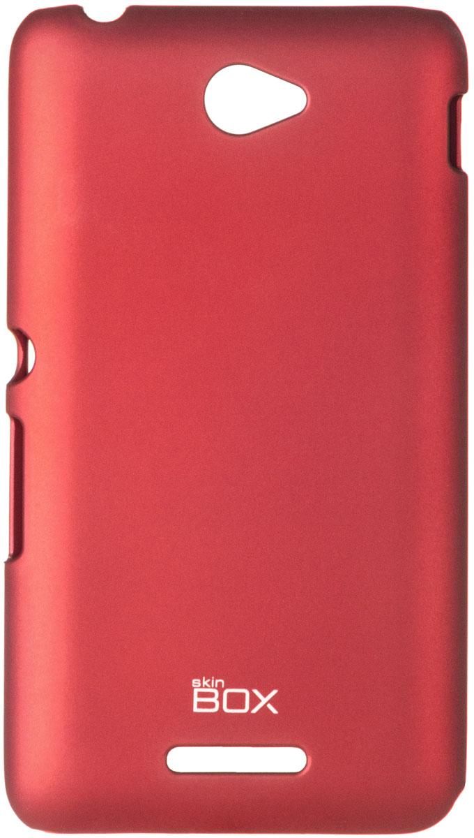 Skinbox 4People чехол для Sony Xperia E4/E4 Dual, RedT-S-SXE4-002Чехол - накладка Skinbox 4People для Sony Xperia E4/E4 Dual бережно и надежно защитит ваш смартфон от пыли, грязи, царапин и других повреждений. Чехол оставляет свободным доступ ко всем разъемам и кнопкам устройства. В комплект также входит защитная пленка на экран.