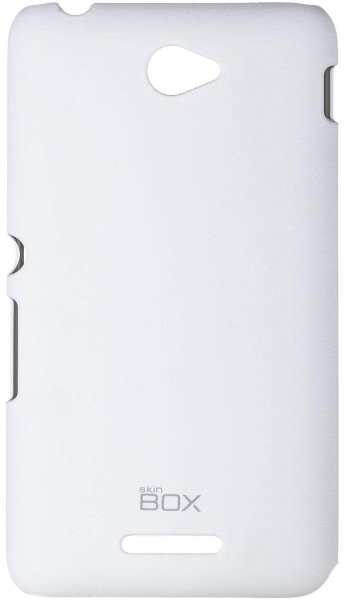 Skinbox 4People чехол для Sony Xperia E4/E4 Dual, WhiteT-S-SXE4-002Чехол - накладка Skinbox 4People для Sony Xperia E4/E4 Dual бережно и надежно защитит ваш смартфон от пыли, грязи, царапин и других повреждений. Чехол оставляет свободным доступ ко всем разъемам и кнопкам устройства. В комплект также входит защитная пленка на экран.