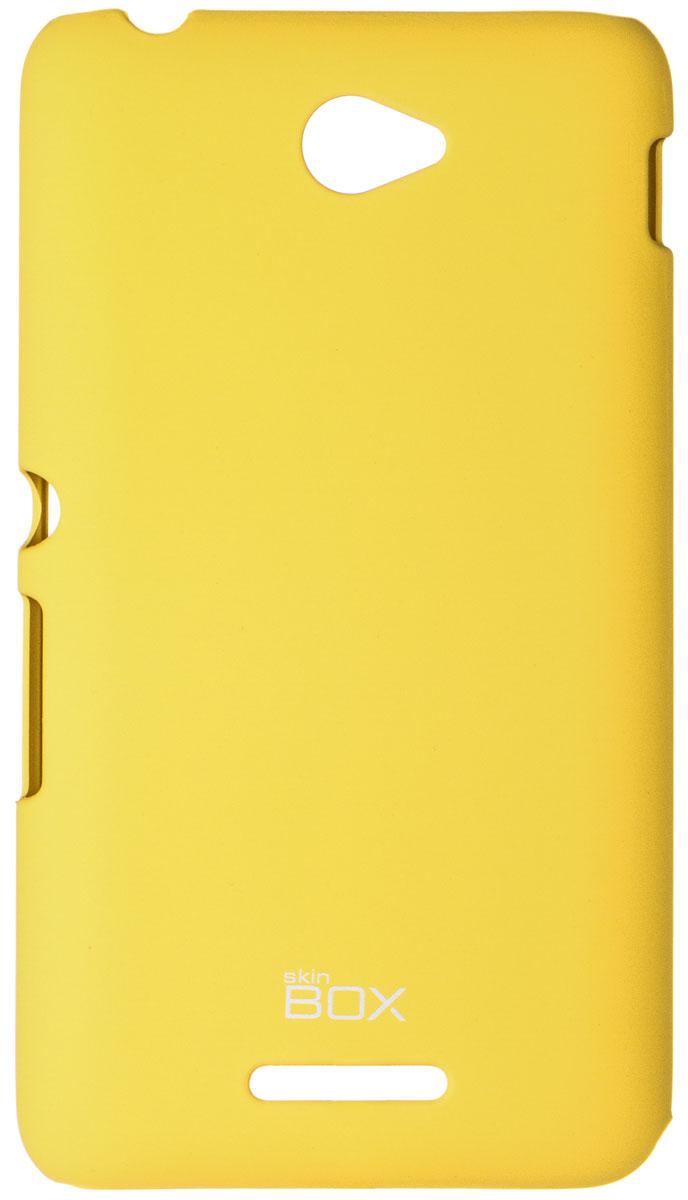 Skinbox 4People чехол для Sony Xperia E4/E4 Dual, YellowT-S-SXE4-002Чехол - накладка Skinbox 4People для Sony Xperia E4/E4 Dual бережно и надежно защитит ваш смартфон от пыли, грязи, царапин и других повреждений. Чехол оставляет свободным доступ ко всем разъемам и кнопкам устройства. В комплект также входит защитная пленка на экран.